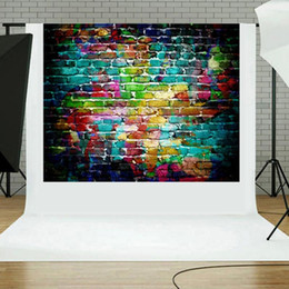 Halloween pHotograpHy backdrops online shopping - 90x150cm Halloween Backdrop Graffiti Brick Wall Art Fabric Backdrop Photography Background Christmas Holiday Background Props