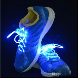 night glowing plastic NZ - Brand designer Hot selling New Led Light Shoelace Glow Stick Flashing Colored Neon Shoelace 12 Colors Girls Flash Shoes Laces Glowing Night
