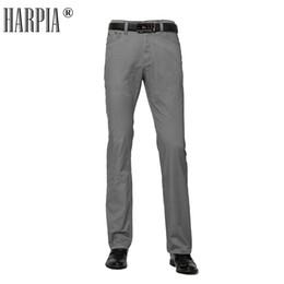 Trousers Big Size Man Canada - Harpia Men Clothes 2018 Male Trousers Men's Summer Cotton Pantaloni Uomo Casual Slim Straight Big Size 8xl Business Long Pants