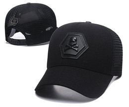 China New Brand baseball hats Germany snapback hat Unisex designer baseball caps strapback baseball hats black gray Trucker hats Metal Logo 008 suppliers