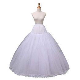 Robe de mariée robe de mariée transparente petticoat jupon jupe en crinoline Slip 12015 blanc en Solde