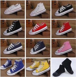 11bd449c5ed50 2019 precio promocional de fábrica! Nueva marca para niños zapatos de lona moda  zapatos altos y bajos