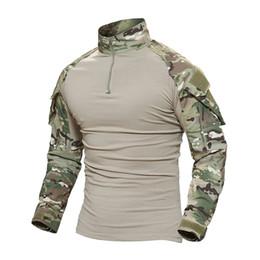 Discount tactical t shirts - TACVASEN Tactical T-shirt Men Camouflage T Shirt Long Sleeve T-shirts For Fishing Hunting Clothes Tee Shirts