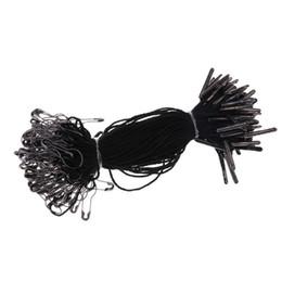 1000 шт. черный повесить тег строка с черной грушевидной булавкой 10.5 см хорошо для повесить теги одежды на Распродаже