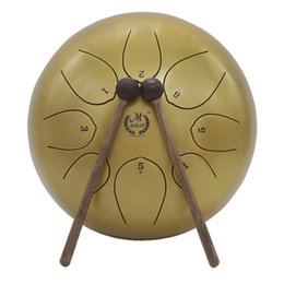 drum percussion instrument 2019 - 10 Inch Steel Tongue Drum Handpan Drum Hand Drum Percussion Instrument With Bag cheap drum percussion instrument