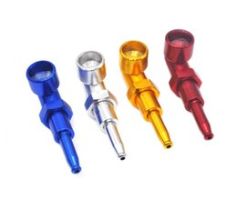 $enCountryForm.capitalKeyWord NZ - Portable metal pipe aluminum filter cigarette nozzle creative short - mouth screw nut shaped pipe