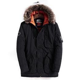 Hooded Winter Parkas For Men NZ - 2018 Winter Parkas Men New Brand Thick Jacket Fashion 3XL Male Parkas Warm Business Men`s Long Coats Breathable Outwear for Men