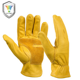 $enCountryForm.capitalKeyWord Australia - OZERO Work Gloves Men's Leather Security Protection Wear Safety Workers Welding Wearable Moto Driver Warm Gloves For Men 0006 S1025