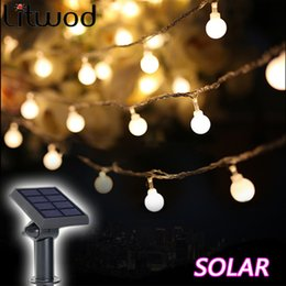 solar christmas lights 2019 - Litwod Z30 Solar Lamps Outdoor Lighting 50 Beads 7 Meters String LED Starry Light Rope Patio Decor Fairy Icicle Lighting