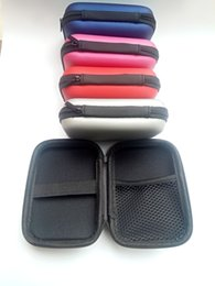 eva key NZ - Colorful Headphone Storage Carrying Bag Rectangle Zipper Earpphone Earbud EVA Case Cover For USB Cable Key Coin Free DHL