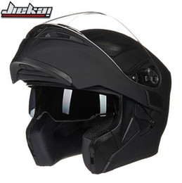 jiekai lens 2019 - New Arrival JIEKAI 902 flip up double lens motorcycle helmet removable and washable liner Aerodynamic design modular hel