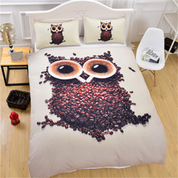 leopard print goods Australia - 3D designs owl bedding set queen king size reactive printing good fastness cartoon designs tiger leopard linon cat seatacion