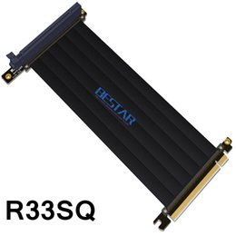 Discount pci e 16x riser cable - Gen3.0 PCI-E 16x To 16x Riser Extender Cable For GIGABYTE AORUS AC300W ITX Motherboard PCIe x16 Elbow Design customized