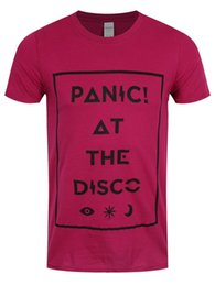 $enCountryForm.capitalKeyWord UK - Panic At The Disco T-Shirt Icons Homme Rose