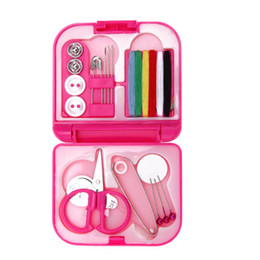 Thread needles online shopping - Mini Cute Sewing Kits Needle Threads Buttons Scissor Thimble Sewing Box Household Travel Knitting Tool Accessories