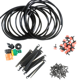 hose micro irrigation 2018 - 25m DIY Micro Drip Irrigation System Plant Self Watering Garden Hose Kits Hogard cheap hose micro irrigation