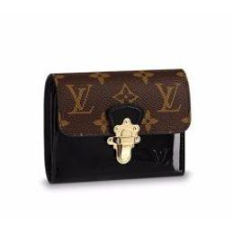 Canvas Skull Wallet Australia - M61912 LADY CANVAS CHERRYWOOD COMPACT WALLET PURSE BAG wallet purse Belt Bags Mini Bags Clutches Exotics