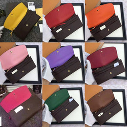 Wholesale free shpping red bottoms lady long wallet multicolor designer coin purse Card holder original box women classic zipper pocket