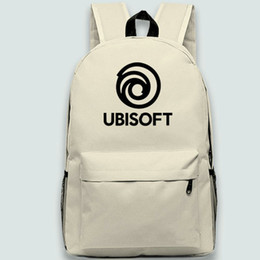 fa70906a3af3 Ubisoft logo backpack Cool day pack Game maker school bag Leisure packsack  Quality rucksack Sport schoolbag Outdoor daypack