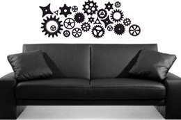 $enCountryForm.capitalKeyWord UK - Twenty-five Steampunk Gears And Cogs Wall Stickers For Living Room Home Decor Bedroom Decoration
