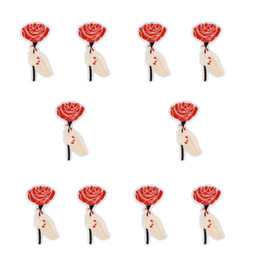 $enCountryForm.capitalKeyWord UK - Sew Embroidery Patch for Clothing Iron on Applique Love Stripe Patch for Children Jacket Hand Holding Flower Accessories 10 PCS