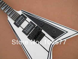 new flying v guitars Canada - 2013 new arrival + free shipping + factory guitar + flying v custom black electric guitar in stock