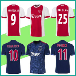 10 free DHL Ajax Soccer Jersey 17 18 Ajax home away Soccer Shirt 2018  Customized KLAASSEN NOURI YOUNES ZIYECH football uniform MILIK S-4XL