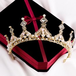 $enCountryForm.capitalKeyWord NZ - Bridal tiara crown hairband wholesale pearl studded bridal crown jewelry wedding accessories crown 2018 Korean style