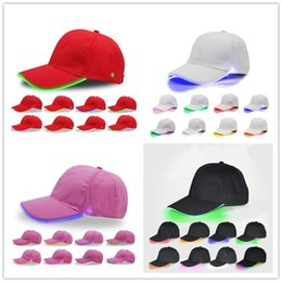 $enCountryForm.capitalKeyWord Canada - LED Baseball Cap Ball Hats LED Light Night Luminous Snapbacks Unisex Changing Mode Single Flash Colors Peak Cap Sports Fishing Hats 32 Color