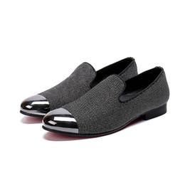 $enCountryForm.capitalKeyWord UK - Men size 38-46 Fashion Business office shoes Silver toe dress shoes for men new style slip-on rivet Oxfords