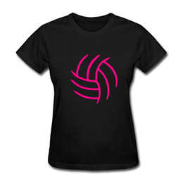 Chinese  Quality Shirts New Style Volley ball Outline Teamer Sporter Women's T-Shirt Summer Casual Clothing manufacturers