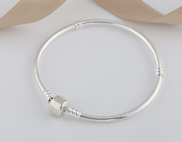 $enCountryForm.capitalKeyWord Australia - Authenetic 925 Sterling Silver Bracelet Snake chain Lobster Clasp Basic Bracelet Bangle Fit Women Bead Charm DIY Pandora Jewelry H9