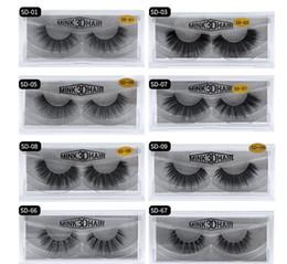 B long hair extensions online shopping - Stock MINK Eyelashes styles Selling pair Real Siberian D Full Strip False Eyelash Long Individual Eyelashes Lashes Extension