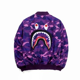 Chinese  Top Quality Autumn Winter New Japanese Streetwear Fashion Camo Animal Teeth Cardigan Zipper Baseball Cotton Jacket Clothing Fashion Hoodies manufacturers