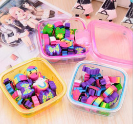 Discount lipstick for girls - 20Pcs set Kawaii Cute Rubber Eraser Kids School Supplies Stationery Set for Home Party Kids GIft Party Favors Girls