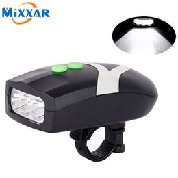 bicycle electronics Australia - 3LED Bike Light Bicycle Light White Front Head Cycling Lamp & Electronic Bell Horn Hooter Siren Waterproof