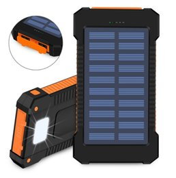 China External Portable Solar Power Bank Dual USB Power Bank with LED light 3000-10000mAh waterproof power bank bateria charger for univeresal sm suppliers