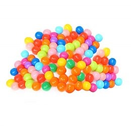 baby bags pcs UK - 100 Pcs Colorful Ball Ocean Balls Soft Plastic Ocean Ball Baby Kid Swim Toy for Children Gift Swim Pits Toy 5.5CM With Storage Bag