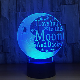 $enCountryForm.capitalKeyWord Canada - Moon 3D LED Optical Illusion Lamp Night Light DC 5V USB Charging 5th Battery Wholesale Dropship Free Shipping