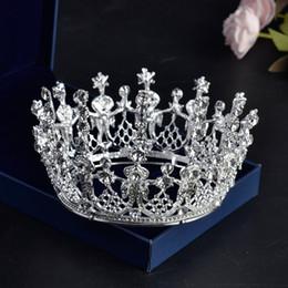 $enCountryForm.capitalKeyWord Australia - Luxury Bridal Crown but High Quality Crystals Royal Wedding Crowns Crystal Veil Headband Hair Accessories Party Tiara