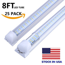 Gs shop online shopping - 8 T8 FA8 LED Tubes V Shape ft LED shop Light ft Work Light W Double Row Fluorescent Light Fixtures