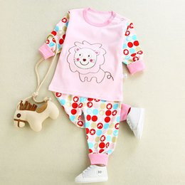 infant underwear NZ - autumn long johns underwear spring cotton 98% clothes tops pants infant cute cartoon print for toddler kids home wearing