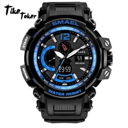Men S Big Watch Australia - TIke Toke,NEW  Watch Waterproof 50M S Resitant Sport Watches saat Digital Clock Men  Army Big Men Watch 7