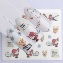 Christmas Gift Nails Australia - YWK New Year Gift Water Transfer Tips Nail Art Sticker Decals Christmas DIY Decor Manicure Styles
