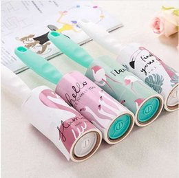 $enCountryForm.capitalKeyWord NZ - 1pc Flamingo Roller Pet Dog Dandruff Brush Adhesive Paper Hair Lint Remover Clothes Sticky Dust Fluff Brush Home Cleaning Tool