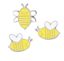$enCountryForm.capitalKeyWord Australia - Happy Bees Brooch Pins Unisex Metal Pin Brooches Gift Idea Shirt Bags Accessories Lovely Pin Brooches