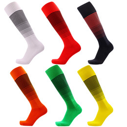 Chinese  Soccer Socks Professional Club Football Socks Knee High Training Long Stocking towel bottom outdoor Sports stripe Socks Adult manufacturers