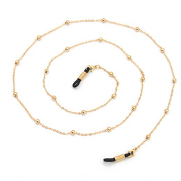391fa8b3e8ed61 Gold Silber Kugel Perlen Kette Brillen Ketten Sport Lesebrille Sonnenbrille  Strap Cord Halter Neck Stirnband Zubehör