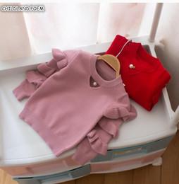 $enCountryForm.capitalKeyWord Australia - Baby Girls Sweaters Autumn Winter Ruffles Girls Cardigan Cotton Christmas Baby Sweater For Toddler Sweaters Kids Pullover