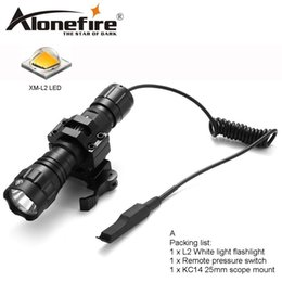 tactical bicycle NZ - AloneFire 501Bs Tactical Flashlight CREE XM-L2 Hunting Torch camping light, lamp,for bicycle Pressure Switch Mount 18650